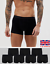 6-Pack-Uomo-Boxer-Trunks-Biancheria-Intima-Sport-ricco-92-COTONE-fi-t-bxr3-3 miniatura 1