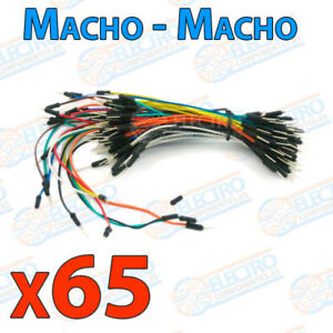 65x-CABLE-JUMPER-macho-protoboard-arduino-pic-solderless-breadboard-wire-cables