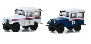 Greenlight-1-64-USPS-United-States-Postal-Service-1971-Jeep-DJ-5-WHITE-or-Blue