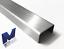 Edelstahl U-Profil gebürstet Korn 320 Innen Maß axcxb 25x 55x 25 mm  1.4301 V2A