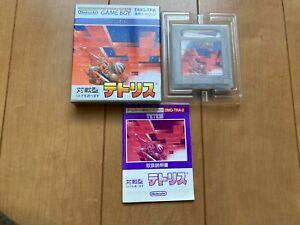 TETRIS BOX and Manual japan Gameboy Nintendo T2