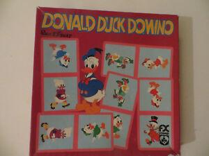 Domino-Donald-Duck-Walt-Disney-Cavahel-Vintage