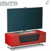 Alphason Chromium Red Tv Stand For Up To 50 Tvs