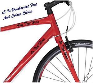 X PERSONALISED NAME BIKE FRAME STICKERS CUSTOM BICYCLE DECAL - Bicycle stickers custom