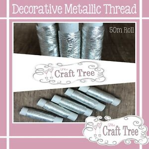 Decorative Metallic Thread 50 Metre Roll
