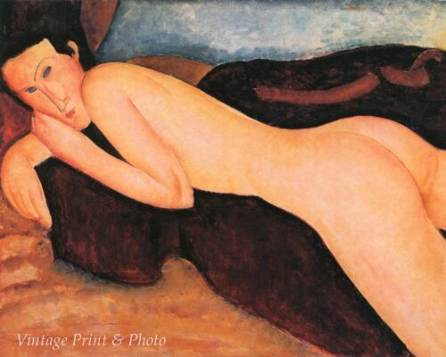 Reclining Nude from The Back by Amedeo Modigliani Art Recumbent 8x10 Print 0581