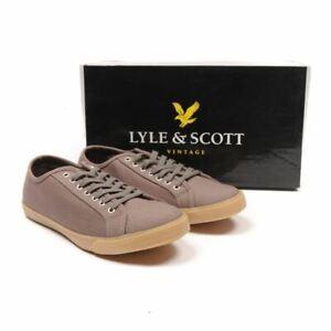 Lyle-Scott-Tennis-Toile-Gris-Lacet-Taille-41-UK-7-Sk-280