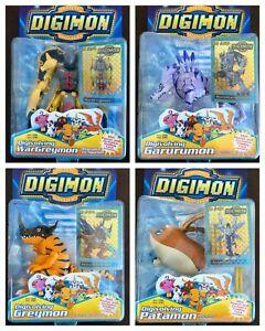 Digivolving Digimon Figures - Wargreymon, Metalgreymon, WereGarurumon, Angemon