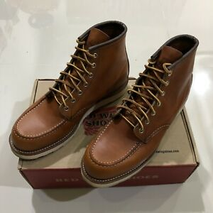 Red-Wing-Heritage-875-Oro-Legacy-Leather-Moc-Toe-Work-Boot-US-9-5D-Made-In-USA