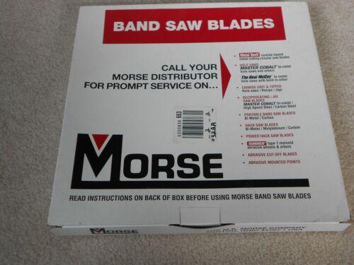 "Morse 5 ft 4-1//2/"" Band Saw Blade Carbon Steel Hard Back 1//2/"" Width 14W"