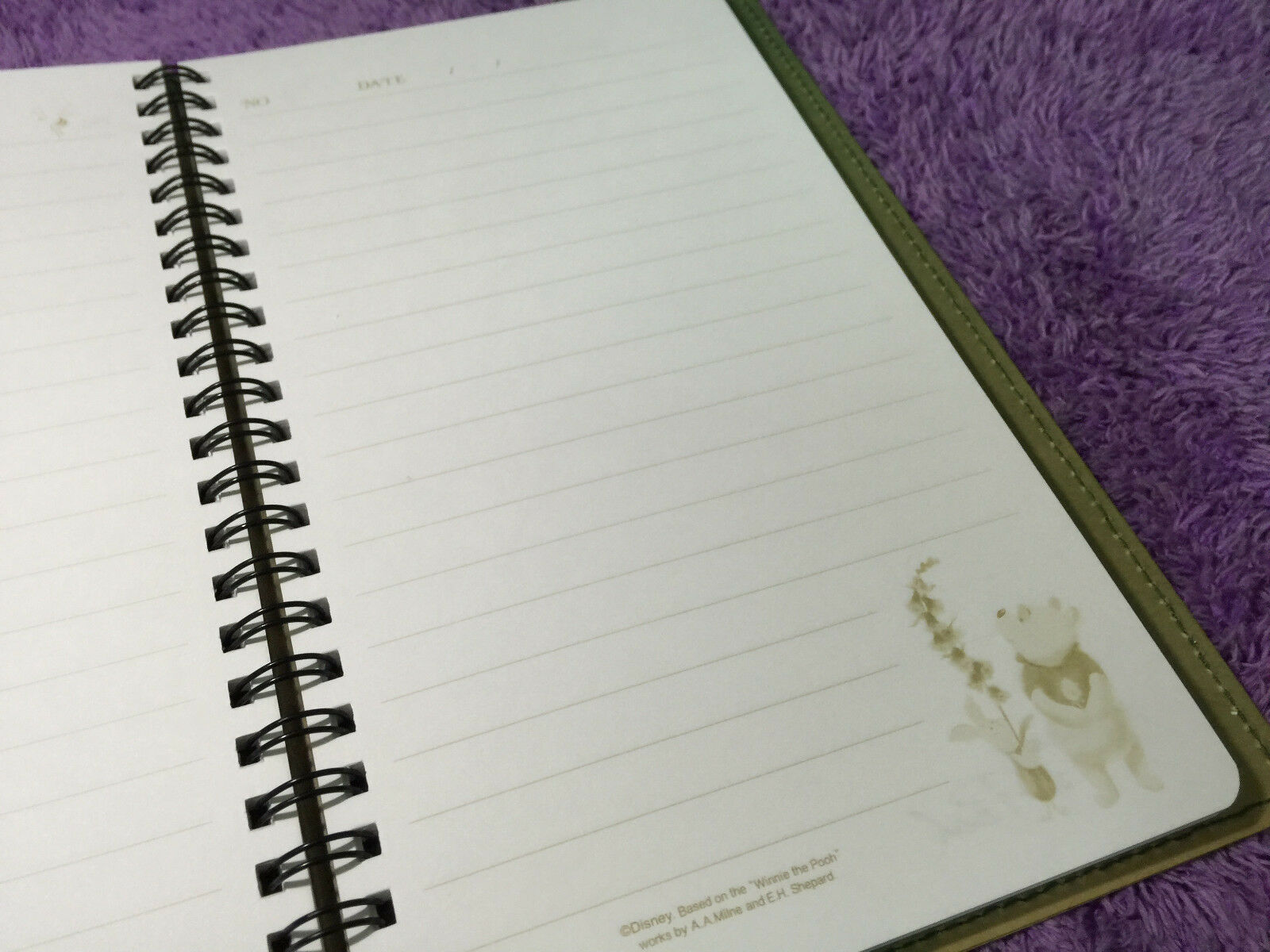 Cute Winnie The Pooh Bear Note Book Diary Journal Travel Memo Gift Nice Schedule