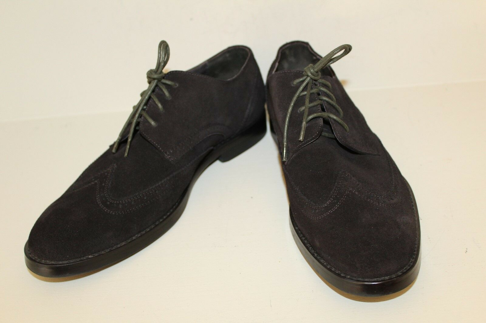 Joseph Abboud Uomo Wingtip Oxford Shoes Sz Sz Sz 10 D Robert Chocolate Suede Pelle 1a6be3