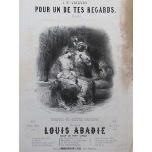 ABADIE-Louis-Pour-un-de-tes-sieht-Nanteuil-Chant-Piano-ca1840-Partitur-blatt