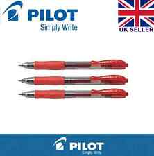 3 x Pilot G2 0.7mm Retractable Gel Ink Rollerball Pen (Red Colours)