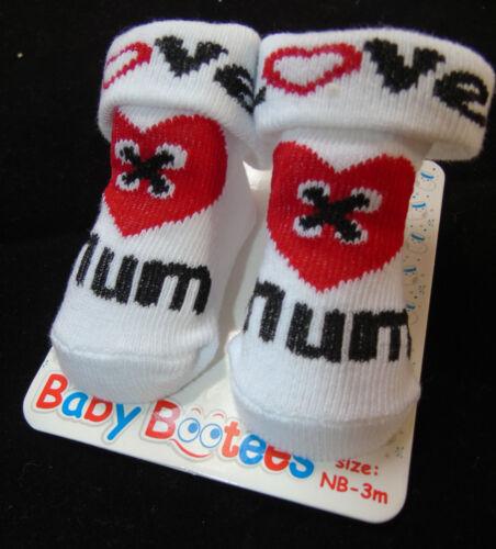 3 Monate Socken Strümpfe Erstlingssocken Love Mum Dad Newborn
