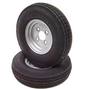 1 Satz 2 Stück Kompletträder 4.80 / 4.00-8 62M 8-Zoll Anhänger Rad Reifen Felge
