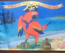 R/V decor Summer Time flies When having rum parrot head 12 X 18 Nylon Boat Flag