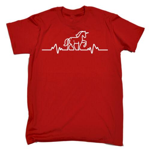 UNICORN PULSE T-SHIRT horse pony magical birthday present slogan funny gift 123t