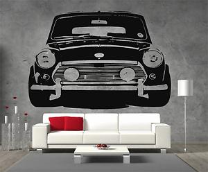 Classic-Mini-Front-Sticker-Wall-Art-Boys-Bedroom-Garage