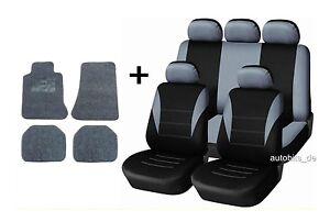 Sitzbezuege-Grau-Komplettset-Fussmatten-fuer-TOYOTA-YARIS-AVENSIS-AURIS