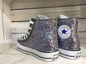 converse all star chuck taylor personalizzate con borchie glitter e stelle