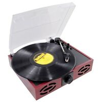 Pyle Pvnt7u Retro Style Turntable 33/45/78 Rpm, Built-in Speakers, Usb To Pc