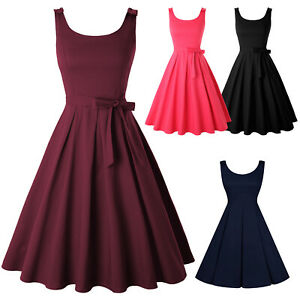 Vintage Retro Swing 50s 60s Housewife Rockabilly Pinup Evening Party Dress S-4XL