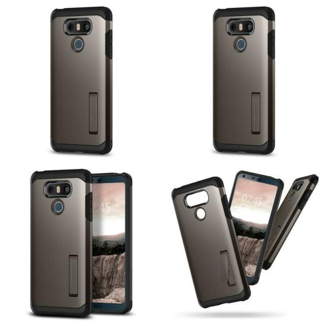 check out 93578 55a89 Spigen Tough Armor LG G6 Case With Kickstand and Extreme Heavy Duty  Protection