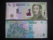 ARGENTINA  5 Pesos  2015  (Pnew)  UNC