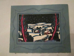 """LUCINA SMITH WAKEFIELD """"NIGHT IN THE VALLEY"""" GREETING CARD NO. 25525 - TUB Q"""