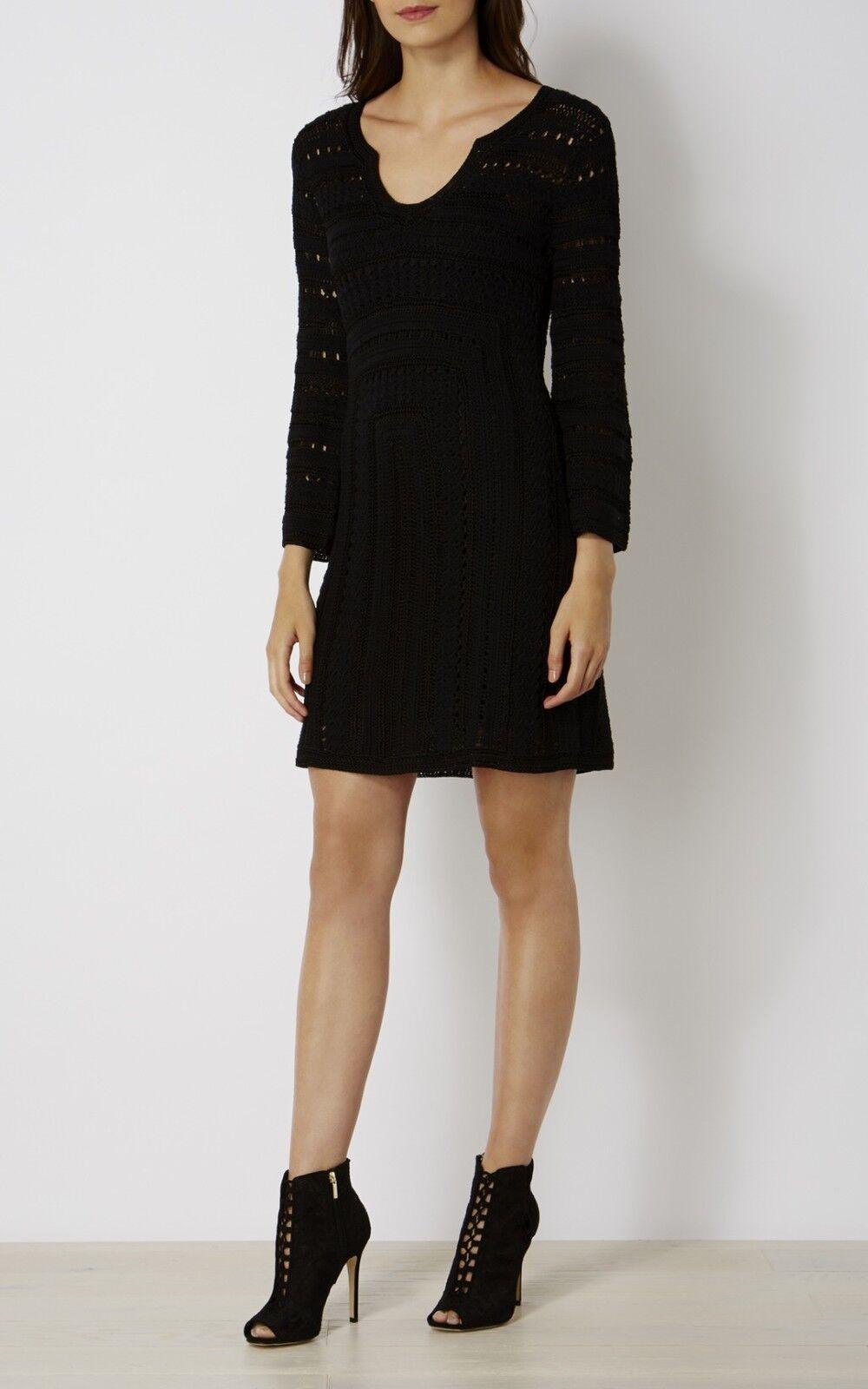 KAREN MILLEN Crochet Vestito, nero, Medio