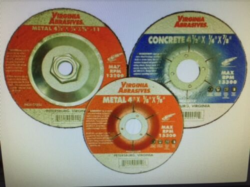 "Metal Depressed Center Grinding Wheel 4-1//2/""x 1//4/"" x 5//8/""-11 10 per pack"