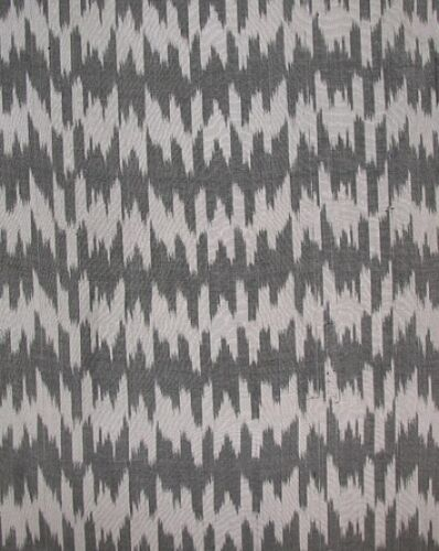 3.2 Yard HAND MADE UZBEK Natural SILK IKAT ADRAS FABRIC # 7471**