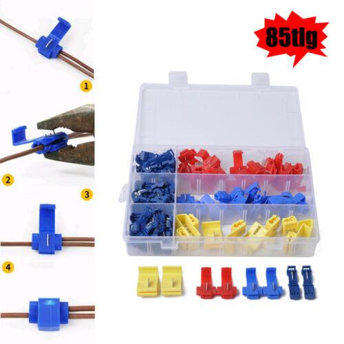 85tlg Schnellverbinder Sortiment Stromdieb Set Kabel-Verbinder Abzweigverbinder