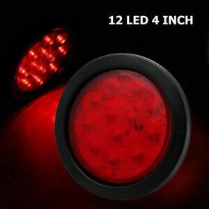 2-Led-Rosso-Tondo-Indicatore-Fanale-Stop-Luce-Posteriore-Camion-Freno-Rimorchio