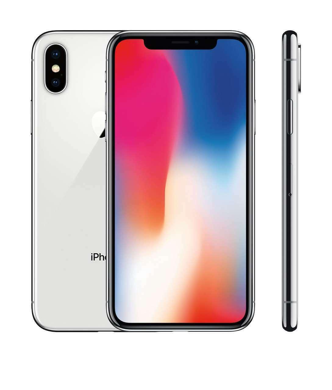 iPhone: APPLE IPHONE X 64GB SILVER RICONDIZIONATO GRADO AB + GARANZIA 12 MESI, ACCESSORI