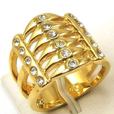 Size 7,8,9 RING,REAL NOBBY 18K YELLOW GOLD GP AFRICA STYLE GEMSTONE SOLID 1069r