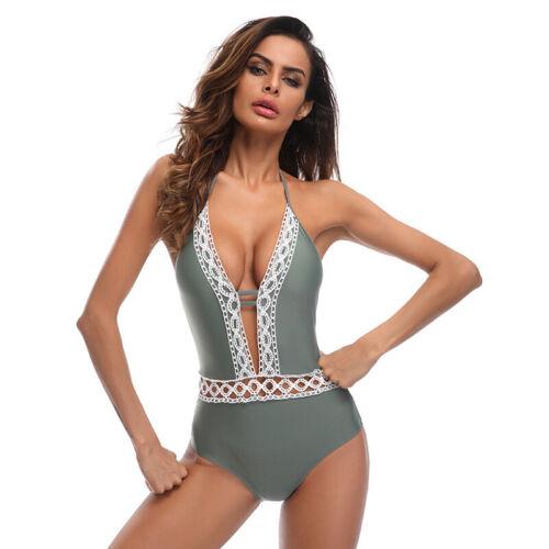 Womens One-piece Swimwear Monokini Bathing Suit Bikini Floral Tankini Beachwear