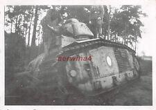 Franz. Panzer Char B1 bei Saint - Quentin Frankreich