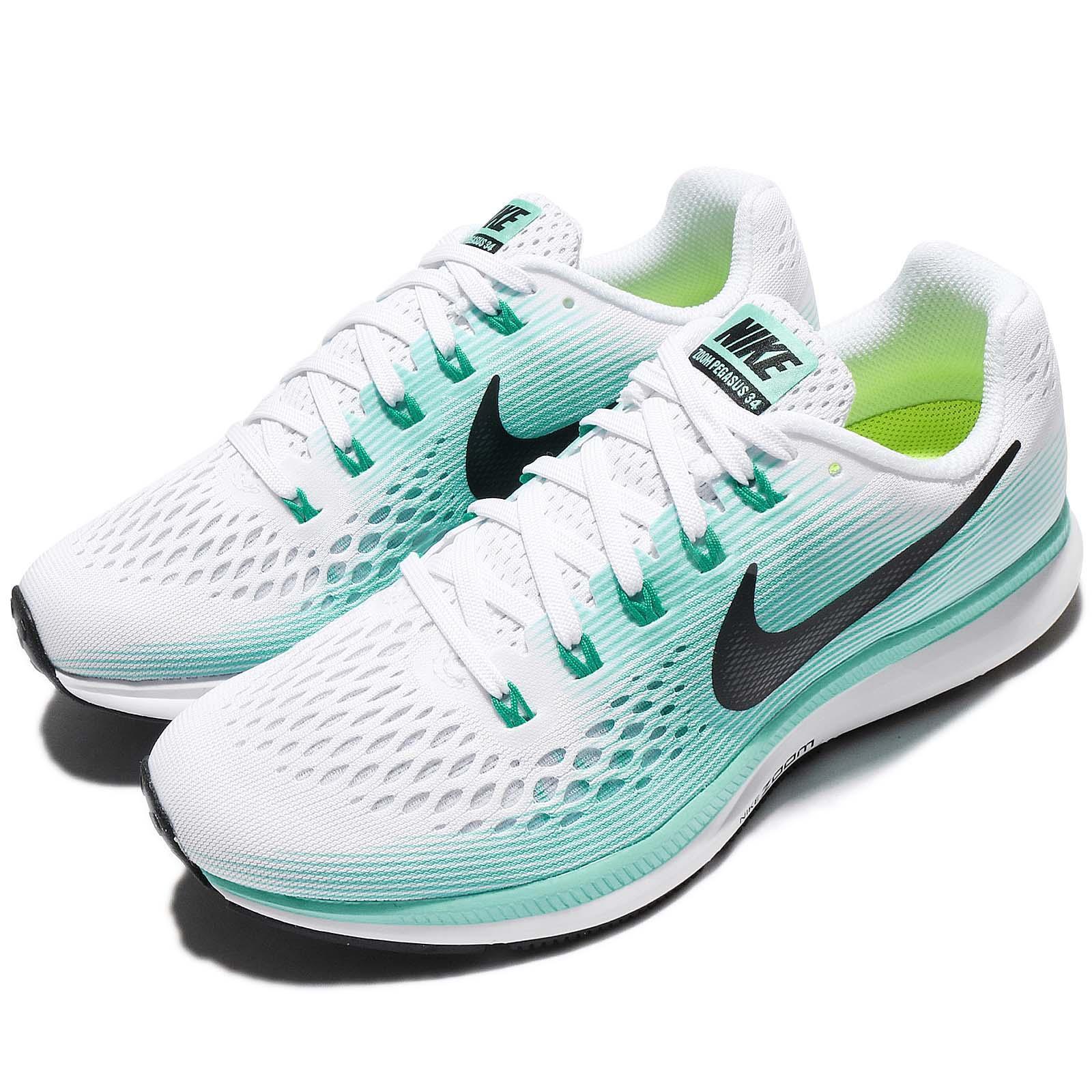 Wmns Nike Blanco Air Zoom Pegasus 34 Blanco Nike zapatos Aurora Verde Mujer 36e411