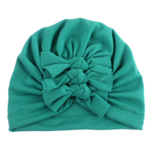 Toddler Infant Baby Boy Girl Bowknot Beanie Headwear Hair Bands Cap Elastic Hat