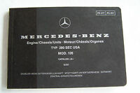 Mercedes 380sec Owners Parts Manual W126 No Part Numbers 380 Sec Parts Catalog