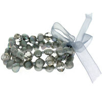 Bracelet Freshwater Pearl Sparkling Beads Stretchy Set Of 3