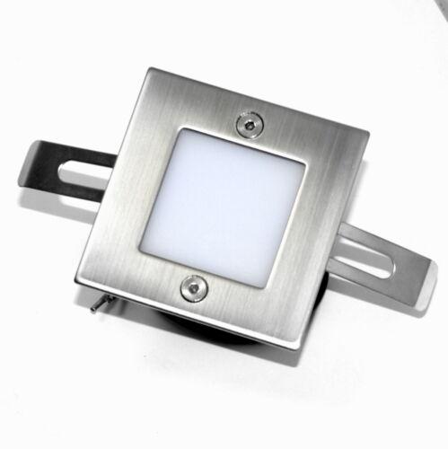 15er Set LED Treppenstrahler Wand Einbaulampe LEON 230V Spots Edelstahl Rostfrei