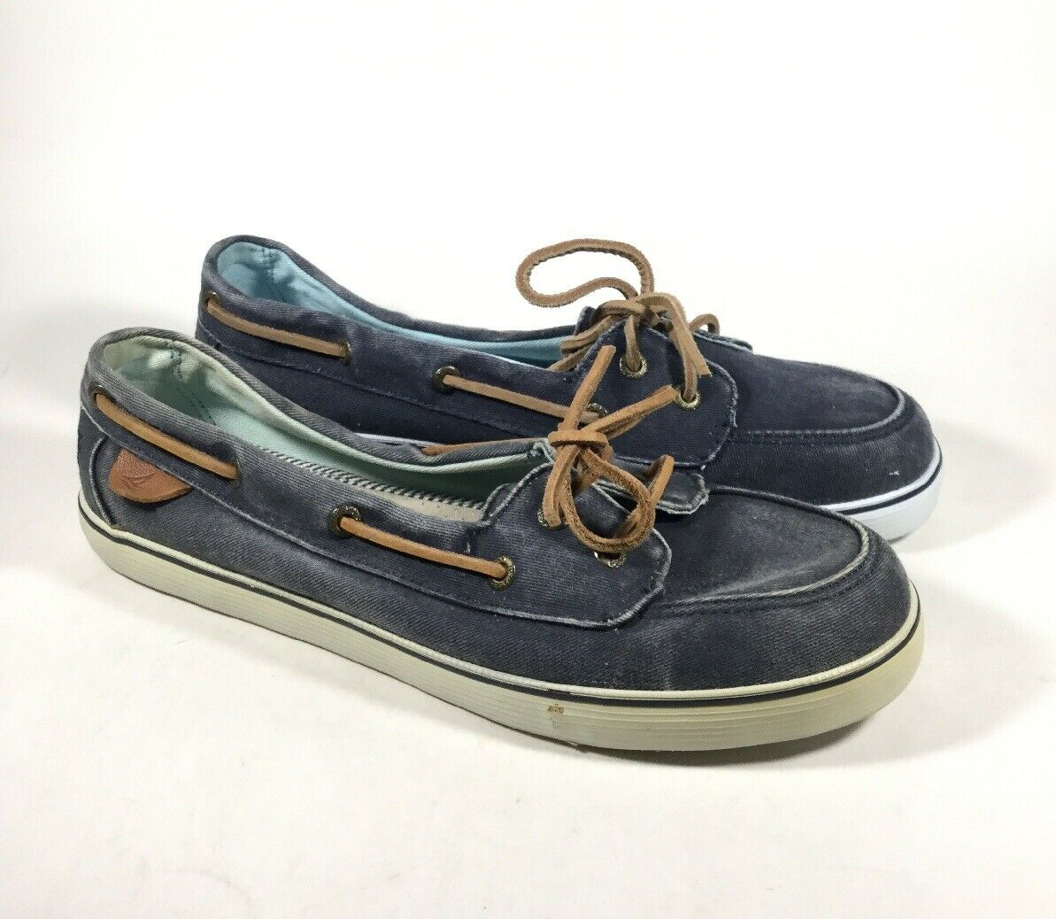 M4638 PreOwned Women's Sperry Top Sider Malibu Navy Boat shoes US 7 M