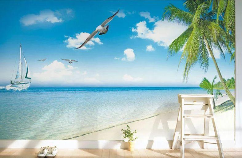3D Seagull Coco 812 Fototapeten Wandbild Fototapete Bild Tapete Familie Kinder