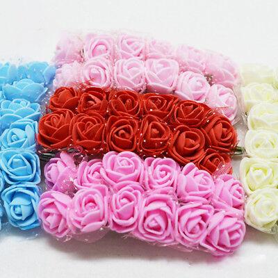 144Pcs Foam Mini Roses Head Small Flowers Wedding Home Party Decoration UK y7