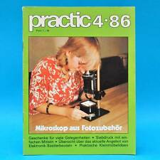 DDR practic 4/1986 Spielzeugkran Schiebespiel Etagere Räucherhäuschen Spiele V