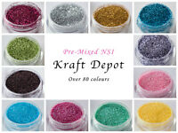 NSI HOLOGRAPHIC IRIDESCENT GLITTER POTS FINE HIGH QUALITY NAIL ART PRE-MIXED!!!