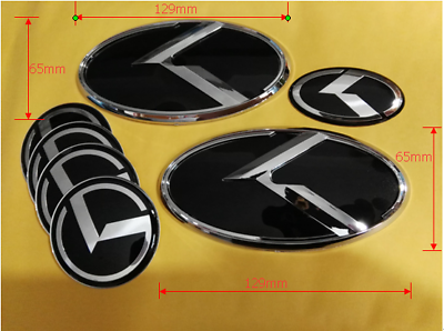 for KIA new Forte YD K3 2014-2015 Front+Rear Black K Logo Emblem Badge 2pcs